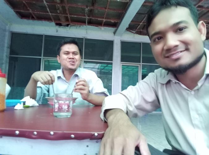 Saya dan teman saya Agus